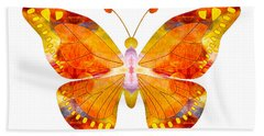 Wisdom And Flight Abstract Butterfly Art By Omaste Witkowski Hand Towel