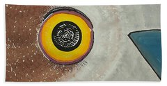 Wise Owl Original Painting Bath Towel