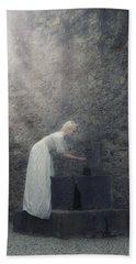 Wishing Well Hand Towel by Joana Kruse