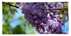 Wisteria Hand Towel by Andrea Anderegg