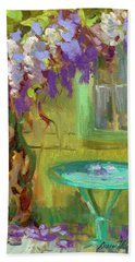 Wisteria At Hotel Baudy Hand Towel by Diane McClary