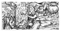 Witches Roasting And Boiling Infants Bath Towel