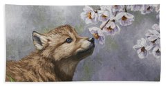 Wolf Pup - Baby Blossoms Bath Towel