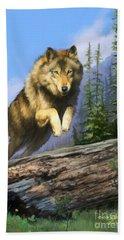Wolf Run Hand Towel