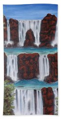 Wolf Spirit Falls Bath Towel