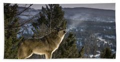 Wolves Nature Song Hand Towel