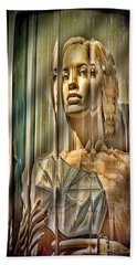 Woman In Glass Hand Towel
