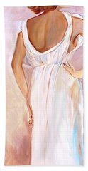 Woman In White Hand Towel