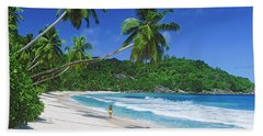 Woman Walking On The Beach, Anse Hand Towel