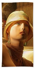 Woman With Hat - Chuck Staley Bath Towel