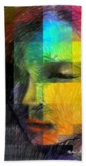 Woman With Red Hair Hand Towel