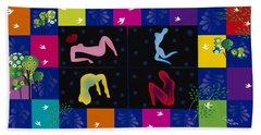 Women In Garden Hand Towel by Gabriela Delgado