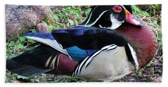 Bath Towel featuring the photograph Wood Duck by Cynthia Guinn
