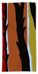 Hand Towel featuring the digital art Wood L by Christine Fournier
