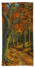 Wooded Road Hand Towel
