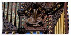 Wooden Angels Ely Cathedral Bath Towel