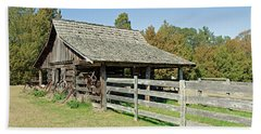 Hand Towel featuring the photograph Wooden Barn by Charles Beeler