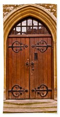 Wooden Door At Tower Hill Hand Towel