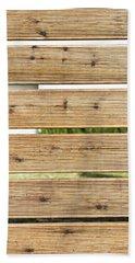 Wooden Fence Bath Towel