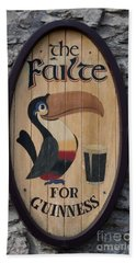 Wooden Guinness Sign Hand Towel by Christiane Schulze Art And Photography