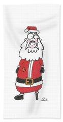 Wooden Leg Santa Hand Towel