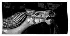 Wooden Pony Hand Towel by Bob Orsillo