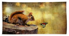 Hand Towel featuring the photograph Woodland Wonder by Lois Bryan