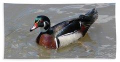 Wood Duck Bath Towel by John Freidenberg