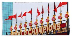 Bath Towel featuring the photograph World Champions Flags by John Freidenberg