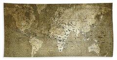 World Map Hand Towel