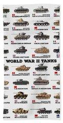 World War II Tanks Bath Towel