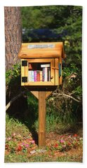 Hand Towel featuring the photograph World's Smallest Library by Gordon Elwell