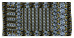Woven Blue And Gold Mosaic Bath Towel