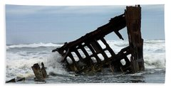 Bath Towel featuring the photograph Wreck Of The Peter Iredale by Chalet Roome-Rigdon