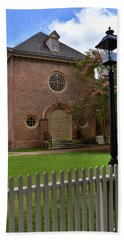 Wren Chapel At William And Mary Hand Towel by Jerry Gammon