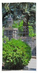 Wrought Iron Gate Bath Towel by Donald S Hall