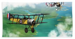 Ww1 British Sopwith Scout Hand Towel