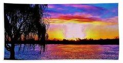 Wyandotte Mi Sunrise Hand Towel by Daniel Thompson