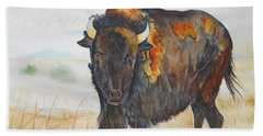 Wyoming - King Of The Prairie Bath Towel