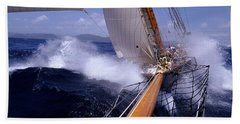 Yacht Race, Caribbean Bath Towel