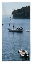Yachts At Anchor Bath Towel