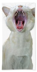 Yawning Cat Bath Towel