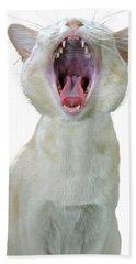 Yawning Cat Hand Towel