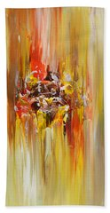 Yellow Abstract Landscape Bath Towel