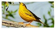 Yellow Bird Hand Towel