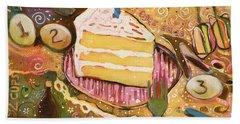 Yellow Cake Recipe Hand Towel