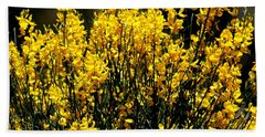 Yellow Cluster Flowers Bath Towel by Matt Harang