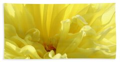 Yellow Dahlia Burst Bath Towel by Ben and Raisa Gertsberg