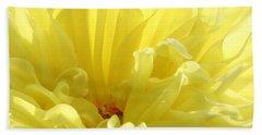 Yellow Dahlia Burst Hand Towel