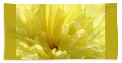 Yellow Dahlia Burst Bath Towel